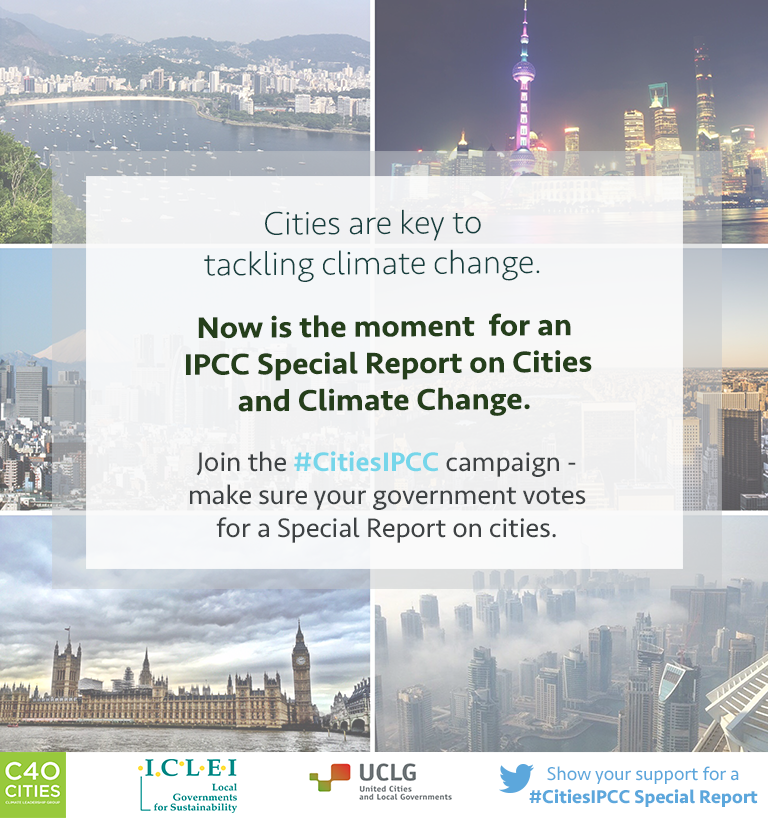 IPCC Special Report on Cities and Climate Change