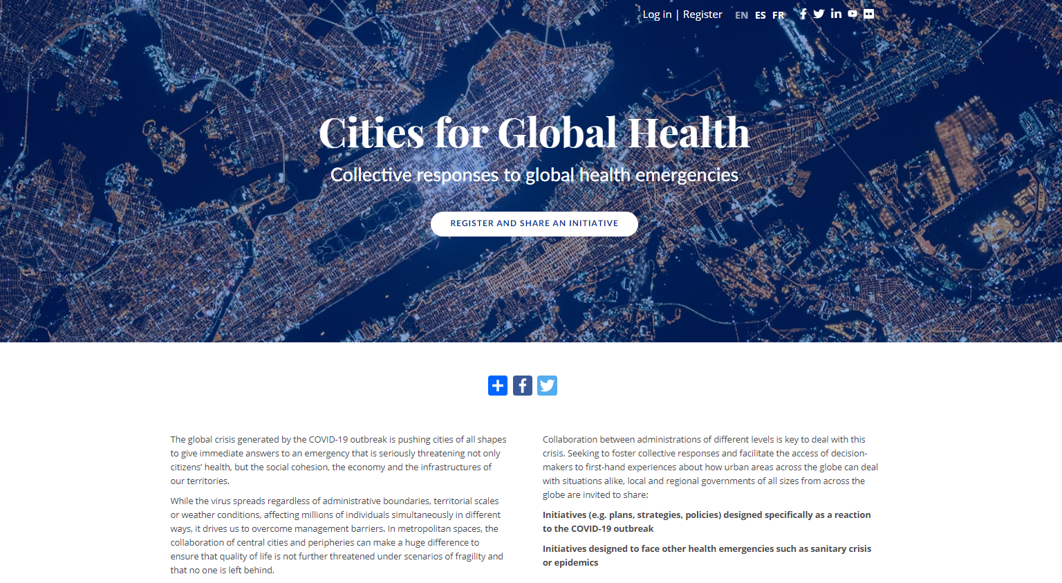 Cities for Global Health