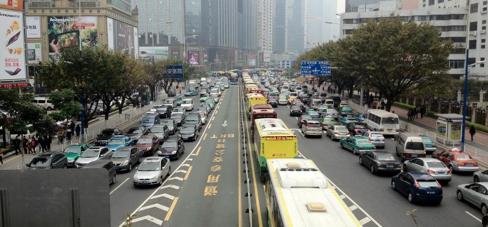 Tianhe Road  in Guangzhou